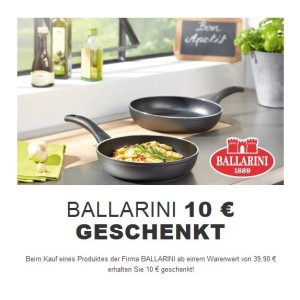 ballarini 10 euro geschenkt