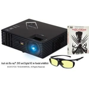 Viewsonic Beamer + 3D-Brille+Wolverine