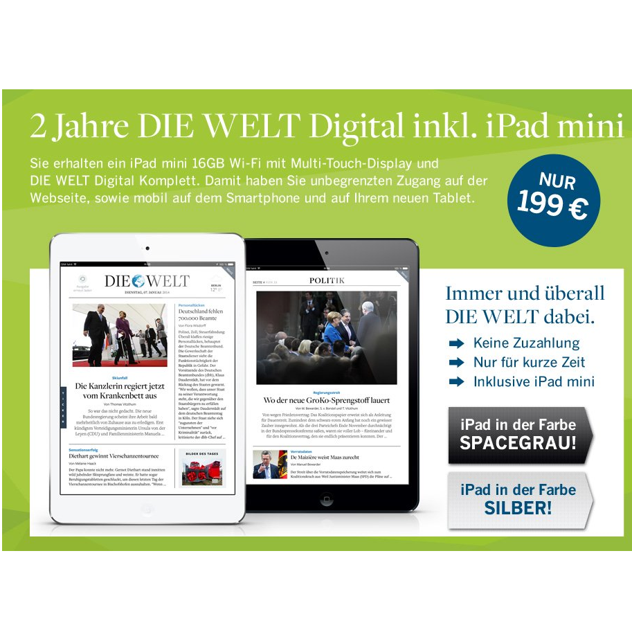 2 jahre welt digital apple ipad mini mytopdeals. Black Bedroom Furniture Sets. Home Design Ideas