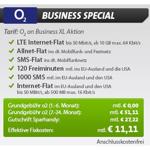 o2 Business Special