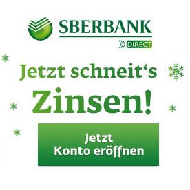 2,2% Festgeld-Zinsen + 20€ Startguthaben bei Sberbank Direct