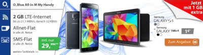 Samsung-galaxy-S5-Handy-mit-Tablet-im-o2