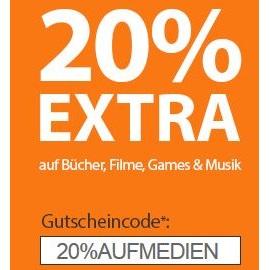 [Rebuy] - 20% extra bei Verkauf von Filmen, Games, CDs, Büchern