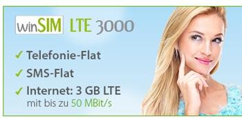 Allnet-Flat + 3GB LTE Surf-Flat mit EU-Option für 17,49€/Monat