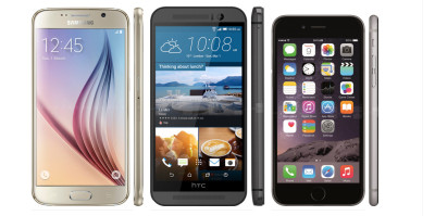 htc one m9 galaxy s6 iphone 6