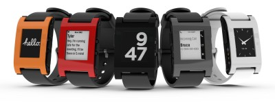 Pebble Smartwatch für iPhone and Android (schwarz)