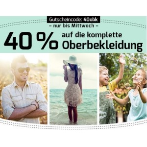Oberbekleidungs-Rabatt