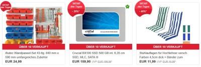 Die heutigen eBay WOW Angebote in der Übersicht, z.B. Crucial BX100 SSD 500 GB interne Festplatte für 159,90€