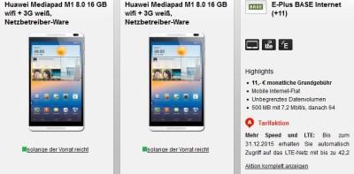 Tipp: Base 500MB + 2x MediaPad 1