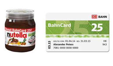 bahncard nutella