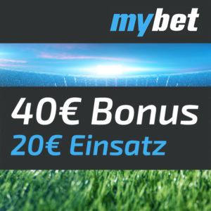 [TOP] 20€ MyBet Wett-Einsatz mit garantiertem Gewinn (40€ Amazon.de-Gutschein)