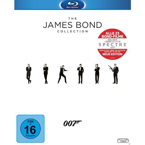 The-James-Bond-Collection-(--Leerplatz-für-Spectre---Bonus-Disc---Booklet--24-Discs)---(Blu-ray)