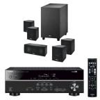 YAMAHA-RX-V379---Interior-5.1X-5.1-System-(AV-Receiver--5.1-Lautsprechersystem--iPod-Steuerung--Bdfluetooth--Schwarz)