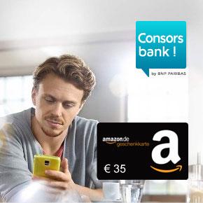 [Knaller] Consorsbank Tagesgeld mit 35€ Prämie - mit Video-Ident!