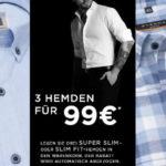 3 Slim Fit, Modern Fit oder Comfort Fit Hemden für nur 99€ bei Eterna