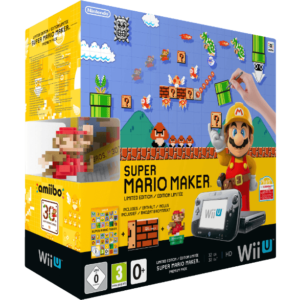NINTENDO-UE-Wii-U-Limited-Edition-Super-Mario-Maker-Premium-Pack-Schwarz