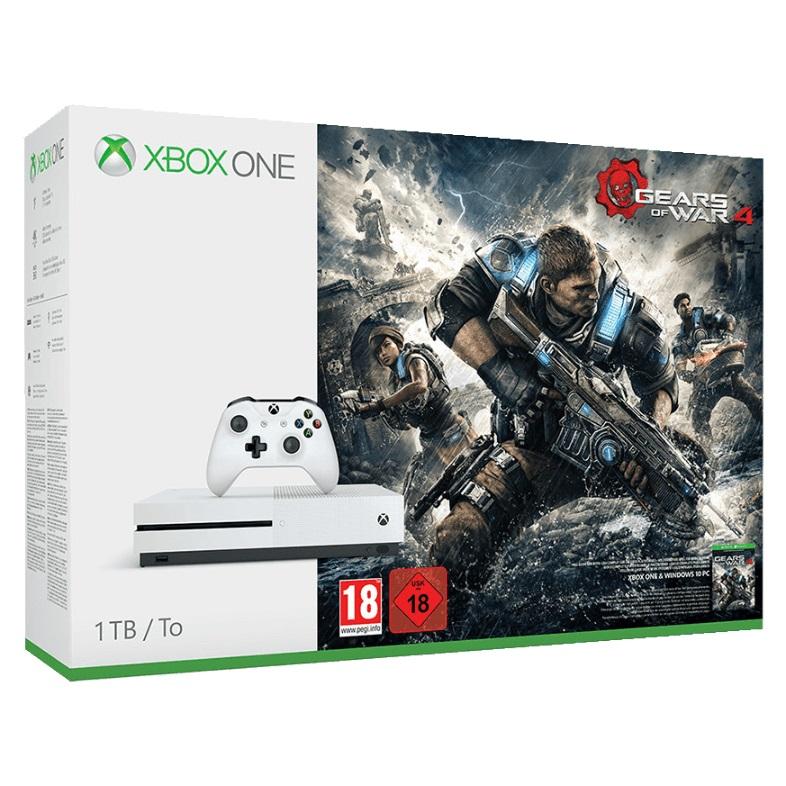 MICROSOFT Xbox One S 1TB Konsole Gears of War 4 Bundle
