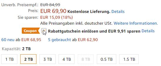 Seagate Exp Festplatte 2 TB