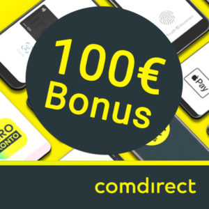 [TOP] 🤑 comdirect Girokonto mit 100€ Prämie (via Apple / Google Pay)