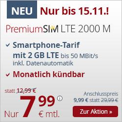 [TOP] O2 Allnet-Flat + 2GB / 3GB LTE + EU-Flat (mtl. kündbar)