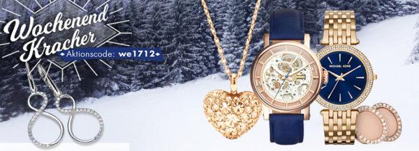 """785054a226 Gültig bis morgen 10 Uhr: Im Onlineshop von Karstadt erhaltet ihr aktuell 20%  Rabatt auf Uhren und Schmuck verschiedener Marken mit dem Code """"we1712""""."""