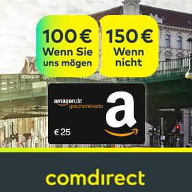 [Knaller] Kostenloses comdirect Girokonto mit bis zu 175€ Prämie