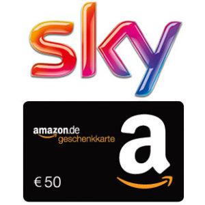 [TOP] Sky Pakete mit 50% Rabatt + 50€ Amazon-Gutschein