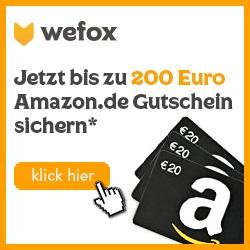 [Knaller] WeFox: Gratis Handy-Vers. oder bis zu 200€ Amazon-Gutscheine