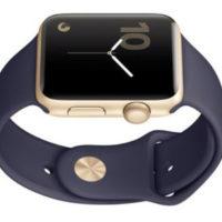 Apple Watch Series 2 42mm mit Sportarmband gold mitternachtsblau   EURONICS.de