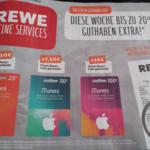 Rewe iTunes Karten 20% Bonus