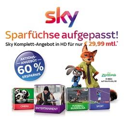 [Knaller] Sky mit allen Paketen + Sky Go + HD + Pro-Receiver