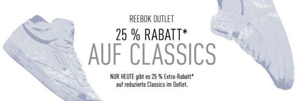 Classics outlet Reebok 25 prozent