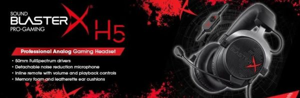 Creative Sound BlasterX H5 analoges Pro Gaming Headset