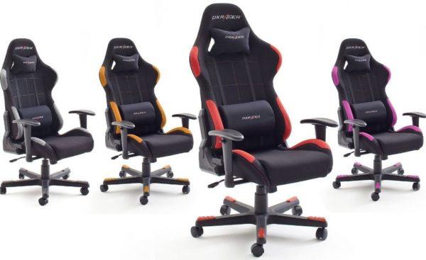 schreibtischstuhl dxracer gamer chair grau schwarz mytopdeals. Black Bedroom Furniture Sets. Home Design Ideas