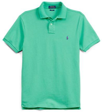 Slim Fit Polohemd aus Pique Slim Fit Poloshirts Ralph Lauren Deutschland