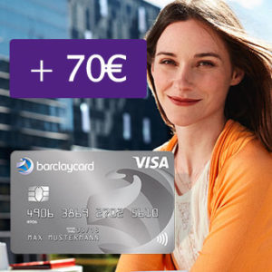 [Knaller] Beitragsfreie Barclay New VISA mit 70€ Bonus