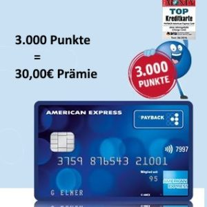 Endet heute: Gratis Payback Kreditkarte mit 3.000 Punkten (= 30€ Prämie)