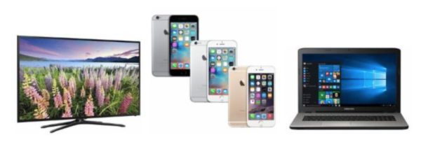 samsung tv apple iphone medion akoya