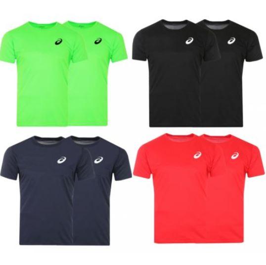 2er Pack asics Performance Sport T Shirt Laufshirt Fitness Sportshirt Herren   e