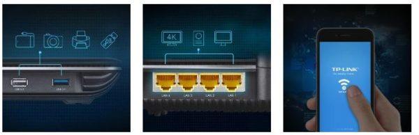 TP Link Router Gigabit MU MIMO Wireless AC3150 x