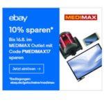Tipp: 10% Gutschein auf alles im Medimax Outlet (Ebay)