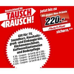 Bis zu 220€ Gutscheine beim Kauf von ausgew. Produkten