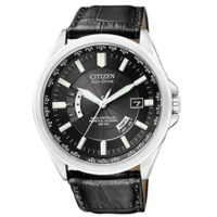 Citizen Herren Armbanduhr XL Analog Quarz Leder CB0010 02E