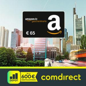 [Knaller] comdirect Depot mit 65€ Amazon-Gutschein (Schufa-frei)