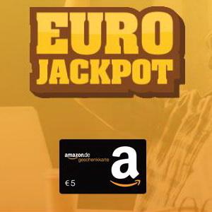 [Knaller] 5€ Amazon.de Gutschein für 3 Felder Eurojackpot (ab 2€)