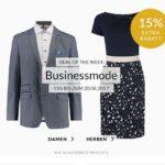 15% Rabatt auf Business-Mode, z.B. Hemden & mehr