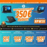 Bis zu 350€ Sofort-Rabatt auf HP Notebooks, z.B. HP 17-bs504ng