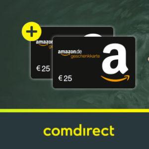 Kostenloses comdirect Girokonto mit bis zu 150€ Prämie + 2x 25€ Amazon.de Gutschein