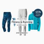 15% auf Fitness- und Running-Artikel