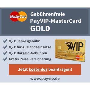 [TOP] 💳 Kostenlose PayVip Mastercard Gold inkl. 40€ Amazon-Gutschein